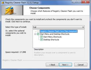 Enlarge Registry Cleaner Flash Screenshot
