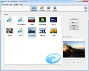 Enlarge PhotoMarks Screenshot