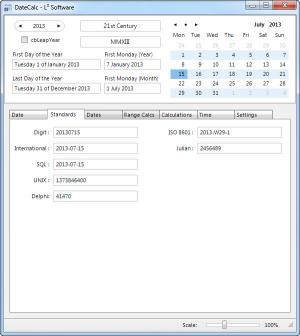 Enlarge DateCalc Screenshot