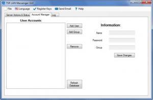 Enlarge TSR LAN Messenger Screenshot