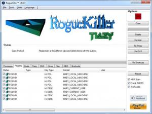 Enlarge RogueKiller Screenshot