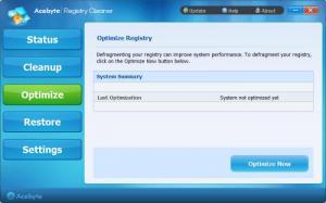 Enlarge Acebyte Registry Cleaner Screenshot