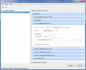 Enlarge Folder Actions Screenshot