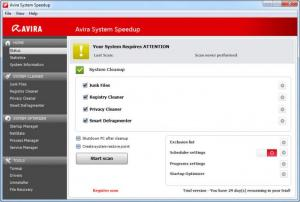 Enlarge Avira System SpeedUp Screenshot