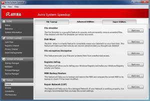 Enlarge Avira System SpeedUp Screenshot