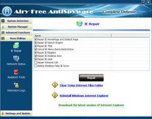 Enlarge Airy Free AntiSpyware Screenshot