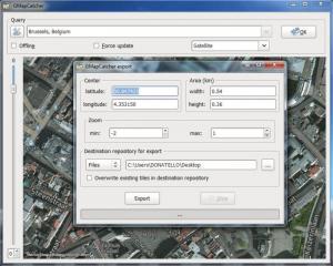 Enlarge GMapCatcher Screenshot
