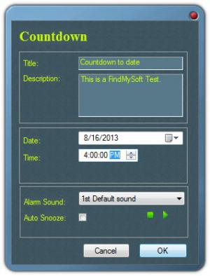 Enlarge Free Countdown Timer Screenshot