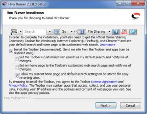 Enlarge Hiro Burner Screenshot