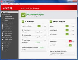 Enlarge Avira Internet Security Screenshot