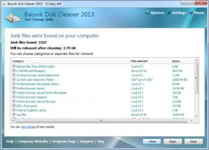Enlarge Baisvik Disk Cleaner Screenshot