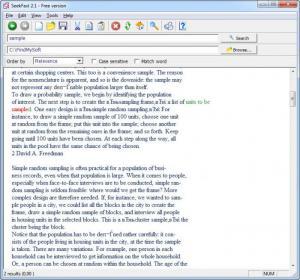 Enlarge SeekFast Screenshot