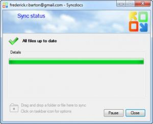 Enlarge Syncdocs Screenshot
