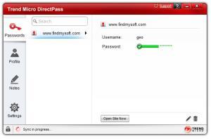 Enlarge Trend Micro DirectPass Screenshot