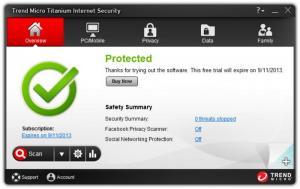 Enlarge Trend Micro Titanium Internet Security Screenshot