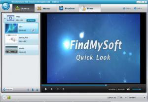Enlarge Wondershare DVD Creator Screenshot