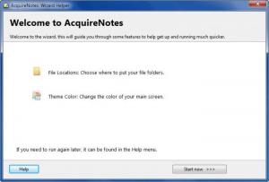Enlarge Acquire Notes Screenshot