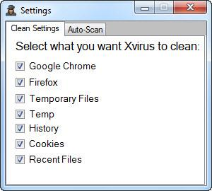 Enlarge Xvirus Privacy Keeper Screenshot