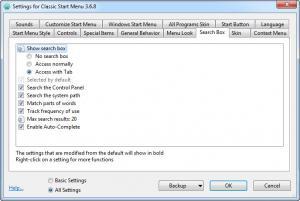 Enlarge Classic Shell Screenshot