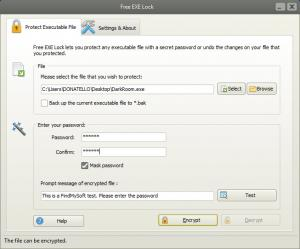Enlarge Free EXE Lock Screenshot