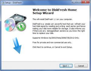 Enlarge DiskFresh Screenshot