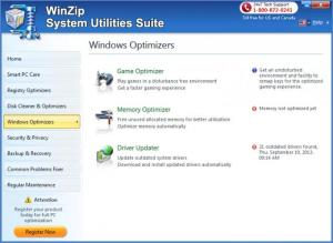 Enlarge WinZip System Utilities Suite Screenshot
