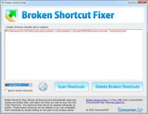 Enlarge Broken Shortcut Fixer Screenshot