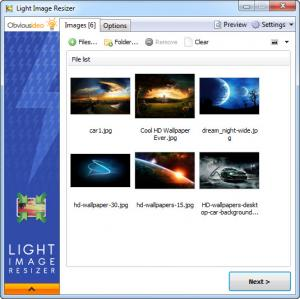 Enlarge Light Image Resizer Screenshot