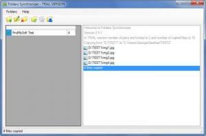 Enlarge FoldersSynchronizer Screenshot