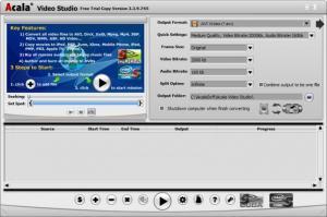 Enlarge Acala Video Studio Screenshot