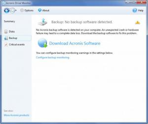 Enlarge Acronis Drive Monitor Screenshot