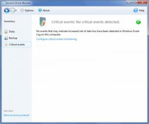 Enlarge Acronis Drive Monitor Screenshot