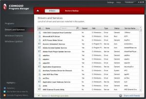Enlarge Comodo Programs Manager Screenshot