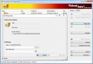 Enlarge VirtualSafe Screenshot