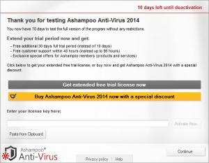 Enlarge Ashampoo Anti-Virus Screenshot