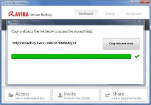Enlarge Avira Secure Backup Screenshot