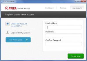 Enlarge Avira Secure Backup Screenshot