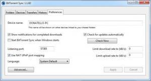 Enlarge BitTorrent Sync Screenshot