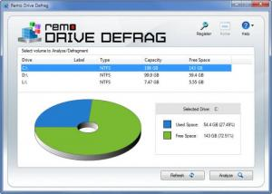 Enlarge Remo Drive Defrag Screenshot