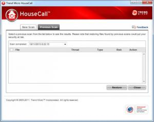 Enlarge Trend Micro HouseCall Screenshot