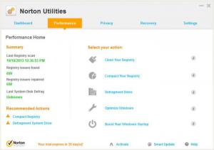 Enlarge Norton Utilities Screenshot