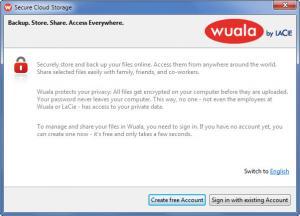 Enlarge Wuala Screenshot