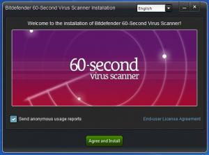 Enlarge Bitdefender 60-second Virus Scanner Screenshot