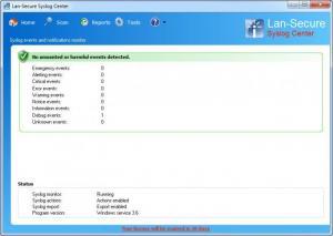 Enlarge Syslog Center Screenshot