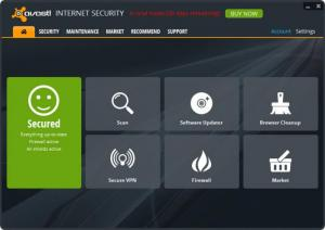 Enlarge Avast Internet Security Screenshot