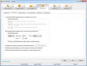 Enlarge Avast BackUp Screenshot