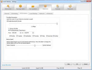 Enlarge Avast BackUp Screenshot
