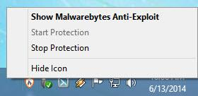 Enlarge Malwarebytes Anti-Exploit Screenshot