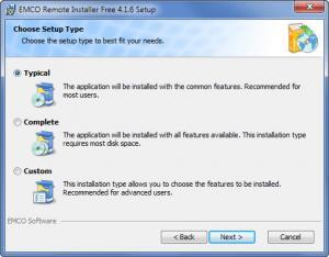Enlarge EMCO Remote Installer Screenshot