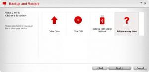 Enlarge BullGuard Online Backup Screenshot
